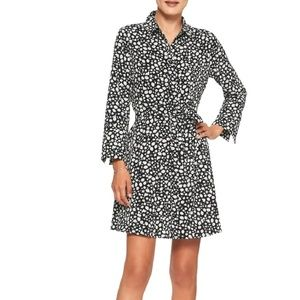 NWT Banana Rep Tailored Shirt Dress Cuffs 12P v472